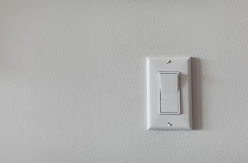 Air Circulation Switch Above Thermostat